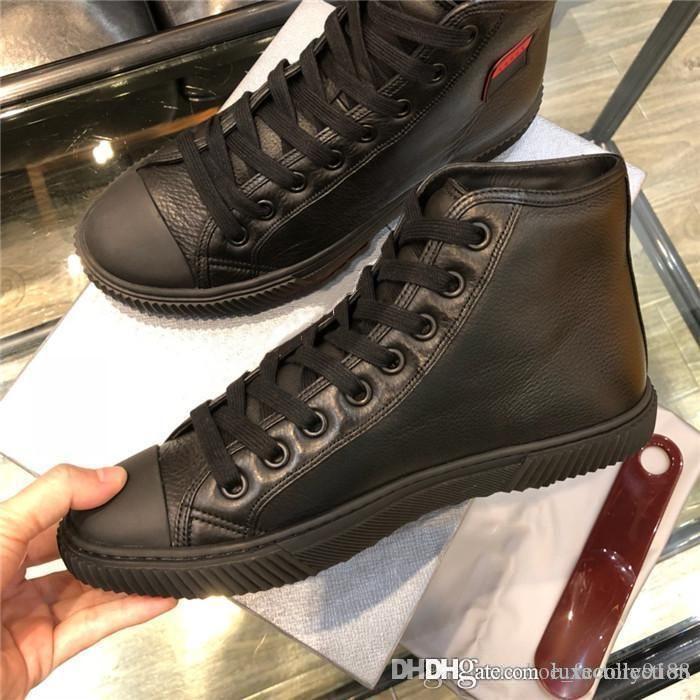 Outono e inverno s novo estilo é alta ajuda recreativo homem glamour moda Casual sapato masculino deve ter alta-top couro