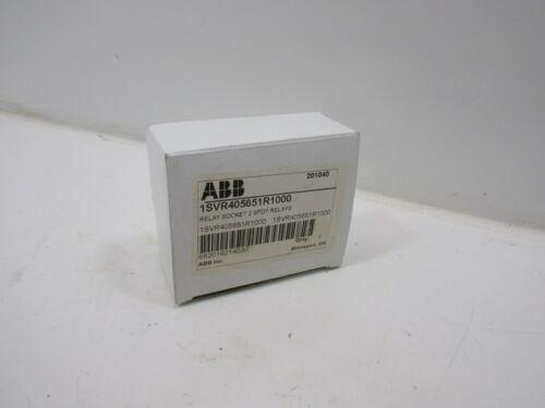 * * NEW ABB 1SVR405651R1000 RELAY SOCKET 2 SPDT RELAYS * 60 일 보증 *