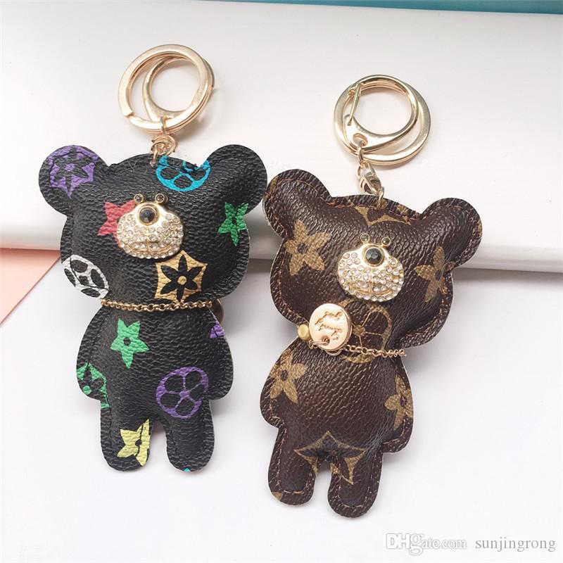 Fashion Car Keychains Stylish High Quality Keychains Cartoon Teddy Bear Handbag Pendants Decoration Friends Birthday Gift