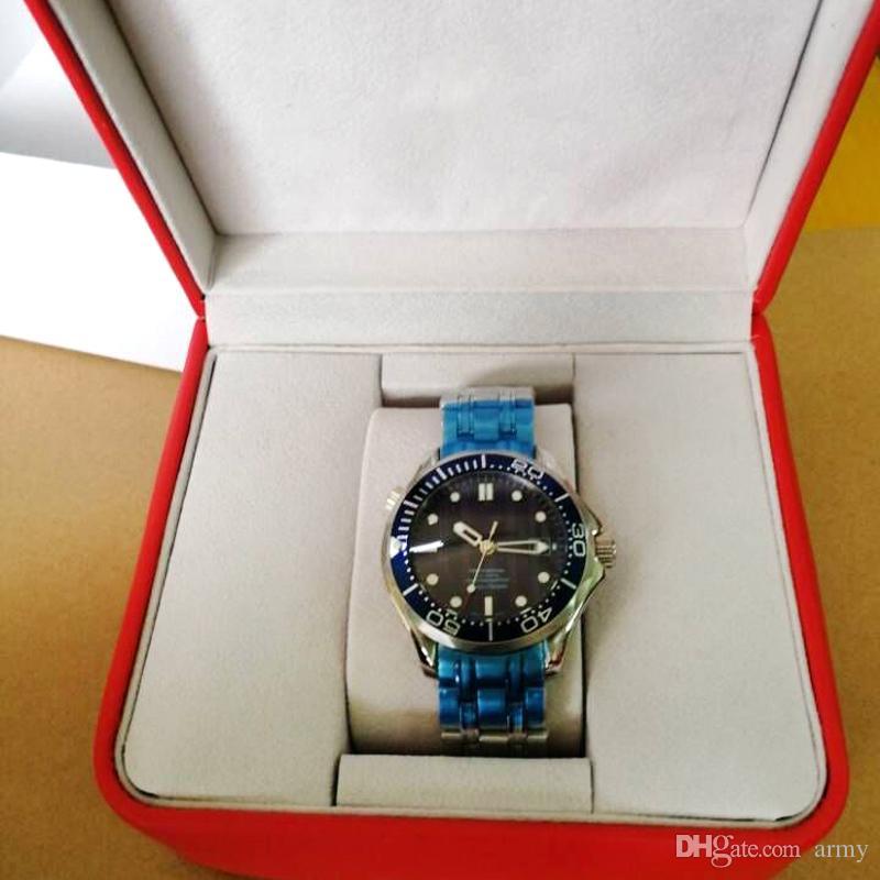 2019 Neueste Luxus Herren Professional 300m James Bond 007 Blue Dial Sapphire Automatic Watch Herrenuhren