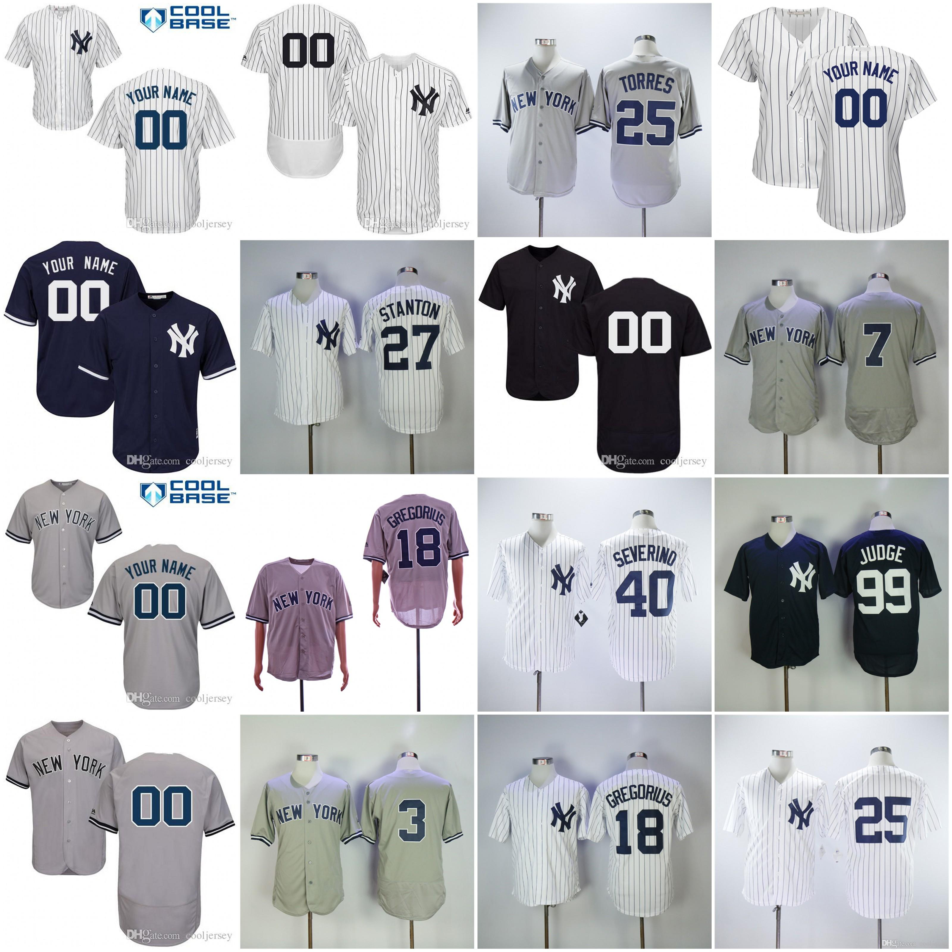 official photos 4b7b4 b74ce 2019 Custom 2019 Yankees Jerseys New York #0 Adam Ottavino 12 Tulowitzki 18  Didi Gregorius 19 Masahiro Tanaka 22 Jacoby Ellsbury Men Women Youth From  ...