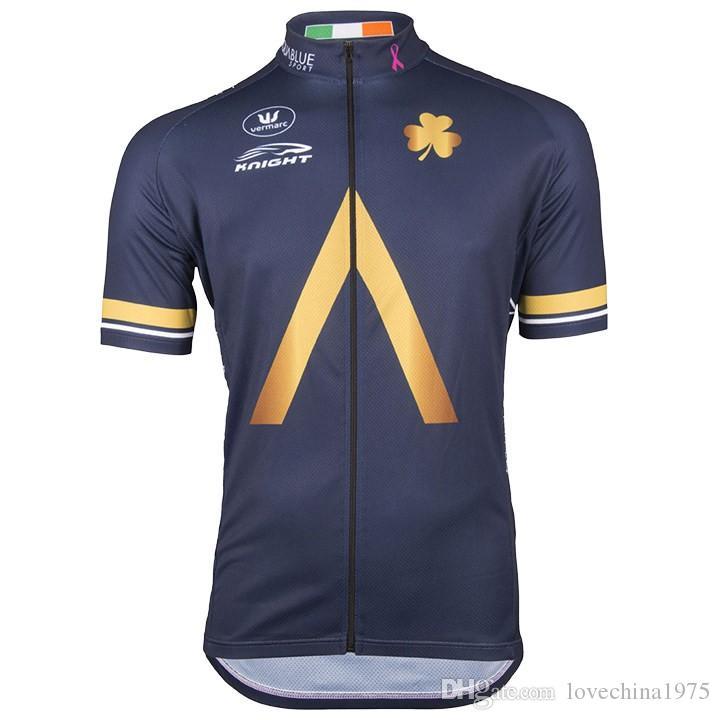 Мужчины Саммер Триатлон Аква Спорт синий Велоспорт Джерси горный велосипед одежда Майо ciclismo РОПа