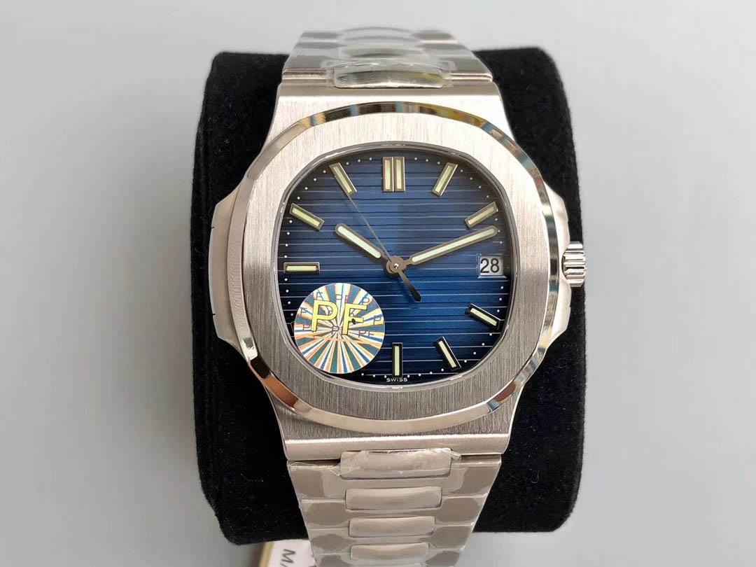 디럭스 최고 품질 시계 PF 공장 5711 / 1A-011 010 Cal.324 SC 이동 날짜 에타 5711G 자동 망은 904L 스테인리스 강철 받침대 손목 시계 시계