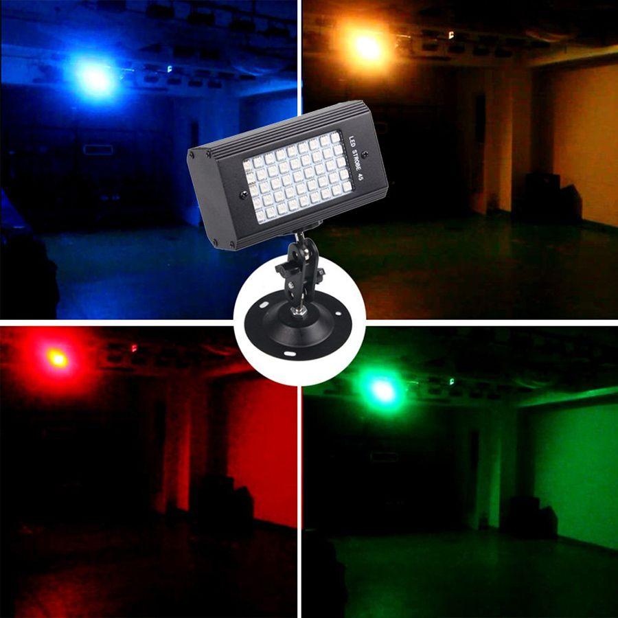 Mini 45 Leds Sound Control Led Colorful White Stage Light RGB Disco Strobe Light Flash Light Christmas Wedding Birthday Club Stage Lighting
