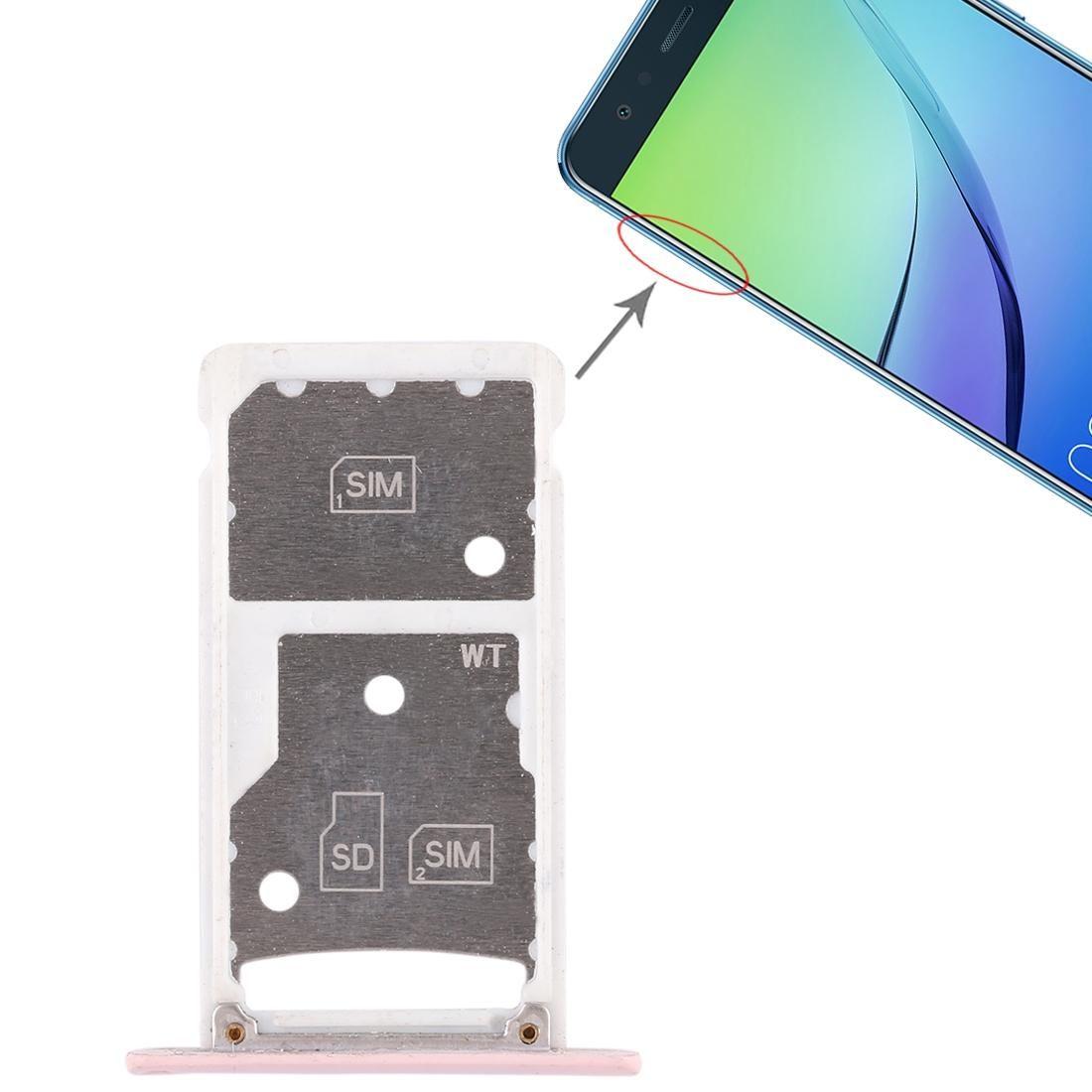 2 Slot per scheda SIM / Micro SD vassoio di carta per Huawei Godetevi 6 / AL00