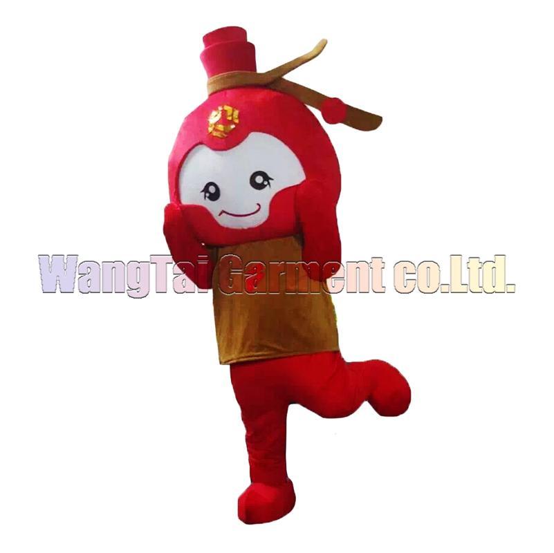 Alta qualidade O ramo Little Red Mascot Costume Carnaval actividade partidária Parade Qualidade Palhaços Halloween Fantasia Outfit frete grátis
