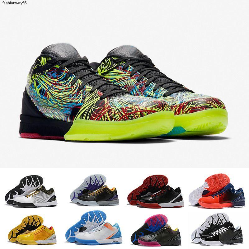Protro Zoom 4 Spurs BLACK MAMBA IV Chaussures de basket WIZENARD Hornets Carpe Diem Del Sol ZK4 4s Sport Baskets Hommes Chaussures