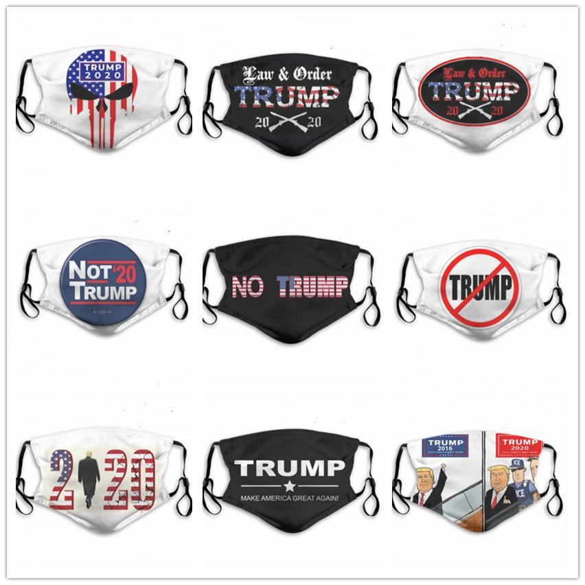 США Дональд Трамп моющегося регулируемые многоразового 2pcs угольных фильтры безопасно спорт на открытом воздухе пыленепроницаемого дышащих масок дизайнеров маску для лица Печатного