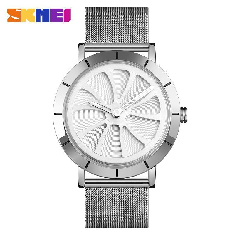 9204 الأزياء الكوارتز مشاهدة الرجال شخصية تصميم بسيط الفولاذ المقاوم للصدأ الفرقة 3bar للماء مضيئة ساعة اليد montre أوم