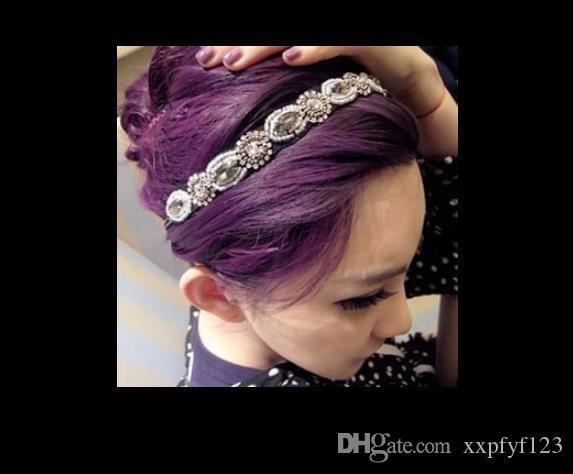 나이트 클럽 퀸 헤어 액세서리 BLINGBLING 손수 만든 모조 다이아몬드 크리스탈 헤드 밴드 머리 밴드 fzp231