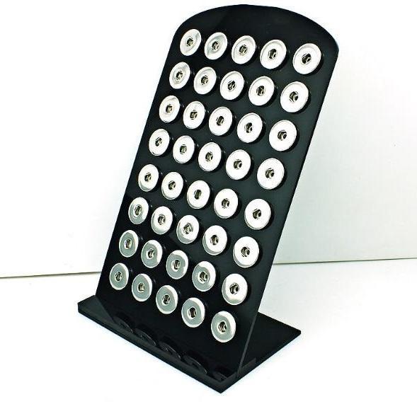 أسود أكريليك 18 ملليمتر زر المفاجئة المدرجات المجلس للأزياء مجوهرات هدية التعبئة والتغليف عرض 1 قطعة / الوحدة DS16 *