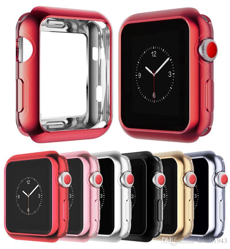 لاجهزة Apple Watch Series 4 iWatch 40 / 44mm Slim TPU TPU Bumper iWatch Protect Case Cover
