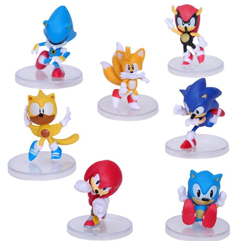 6 Stiller / Set Sonic Eylem Doll Toys 6cm PVC PSP Oyun Doll Animasyon Periferik Dekorasyon Oyuncak Şekil