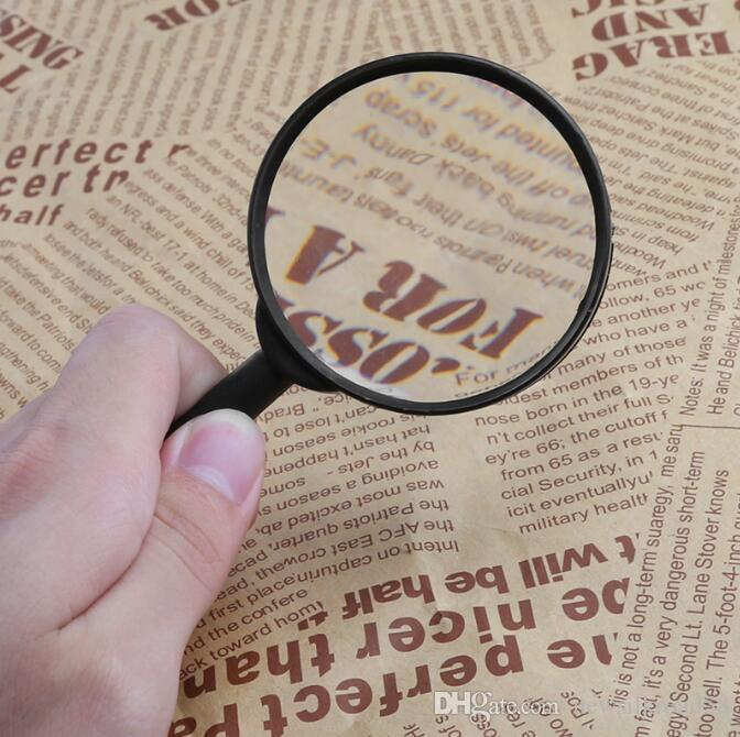 60mm Hand Held Magnifier Glasses Lens 5X Magnifying Loupe Reading Glass Lens 50pcs/lot Free Shipping