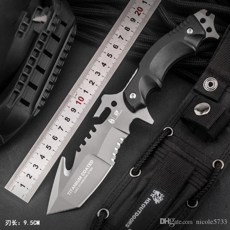 Handao reparierte Blatt-440C Edelstahl-taktische kampierende Jagd-Überlebens-Taschenmesser G10 Composite Fibre Handgriff-Werkzeuge Sammlung