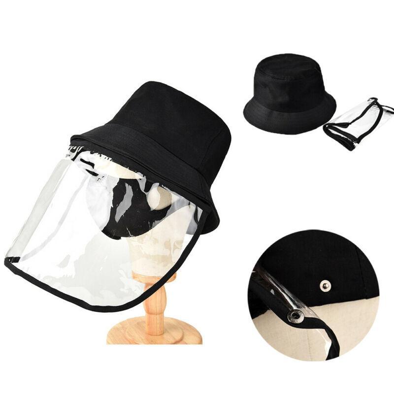 Рыбак кепка с защитным прозрачным маски слюны-доказательство пыли-доказательство Солнца шлема безопасности
