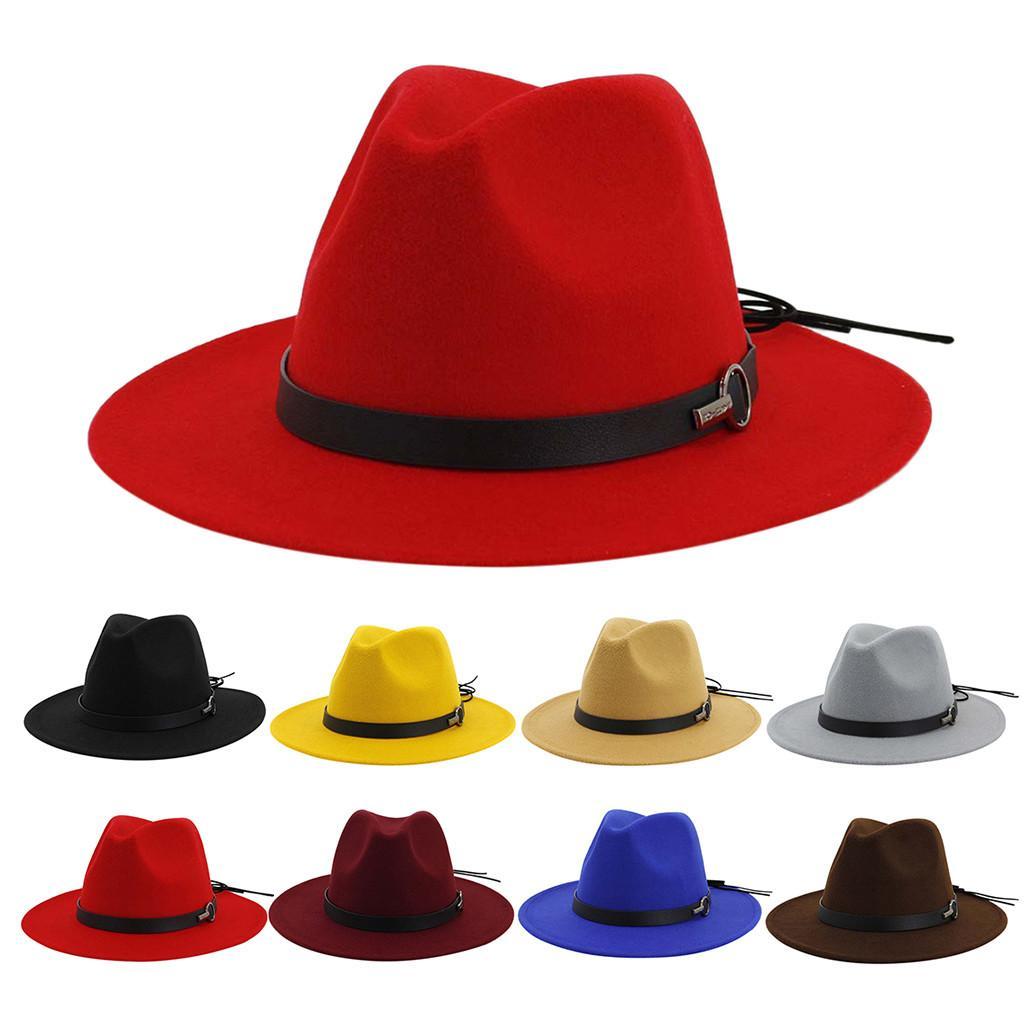 Fascinator Chapeaux femmes CHAPEAU vintage large chapeau avec Brim d'expédition Boucle de ceinture réglable Outbacks Chapeaux Soild Sun gratuit # J8