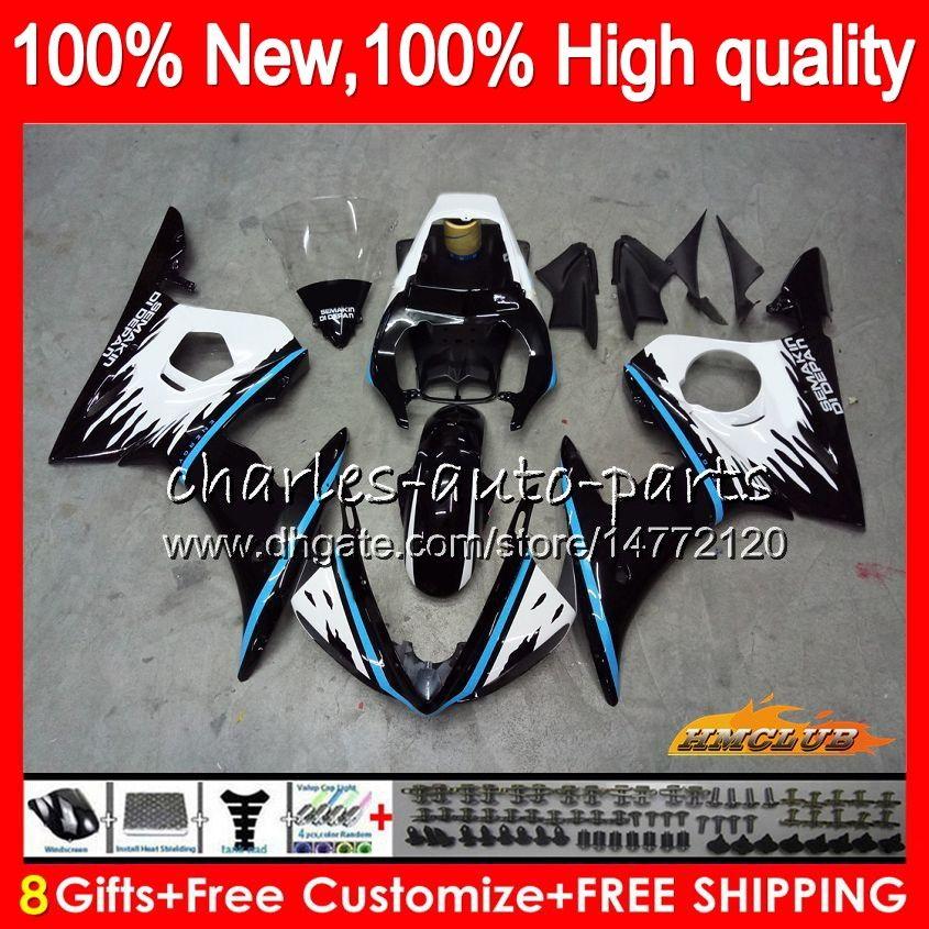 Body Kit für YAMAHA YZF600 YZF 600 R 6 600cc heißen blauen blk YZF R6 03-05 59HC.123 YZFR6 YZF600 YZFR6 03 04 05 2003 2004 2005 Verkleidungs + 8Gifts