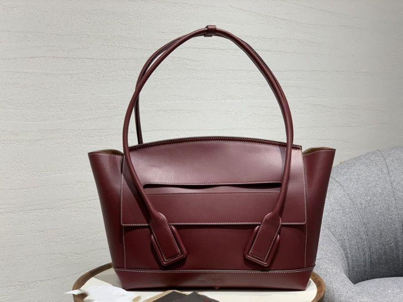 فاخر مصمم حقائب اليد حقائب يد السيدات عنابي جلد الكتف زهرة عيد الميلاد عيد الفصح حقيبة الكتف مركب