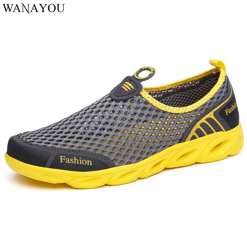 Erkekler Kadınlar Memba Aqua Ayakkabı Mesh Nefes Açık Plaj Su Ayakkabı Yaz Kaymaz Hafif Hızlı Kurutma Su Sneakers