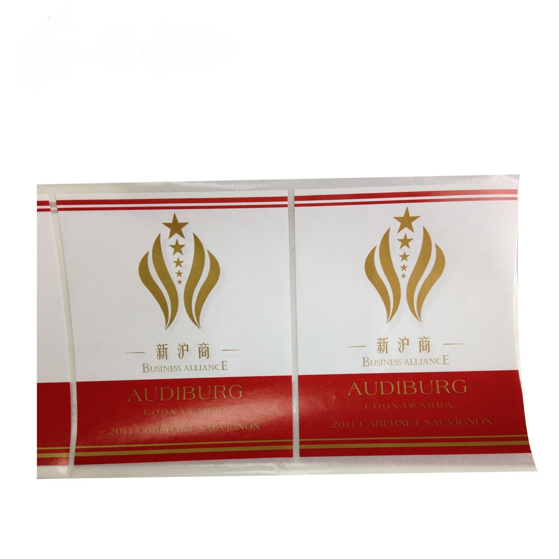 die couleur personnalisée pleine coupe d'or d'impression imperméable argent timbre feuille foild timbre étiquettes autocollantes en vinyle adhésif