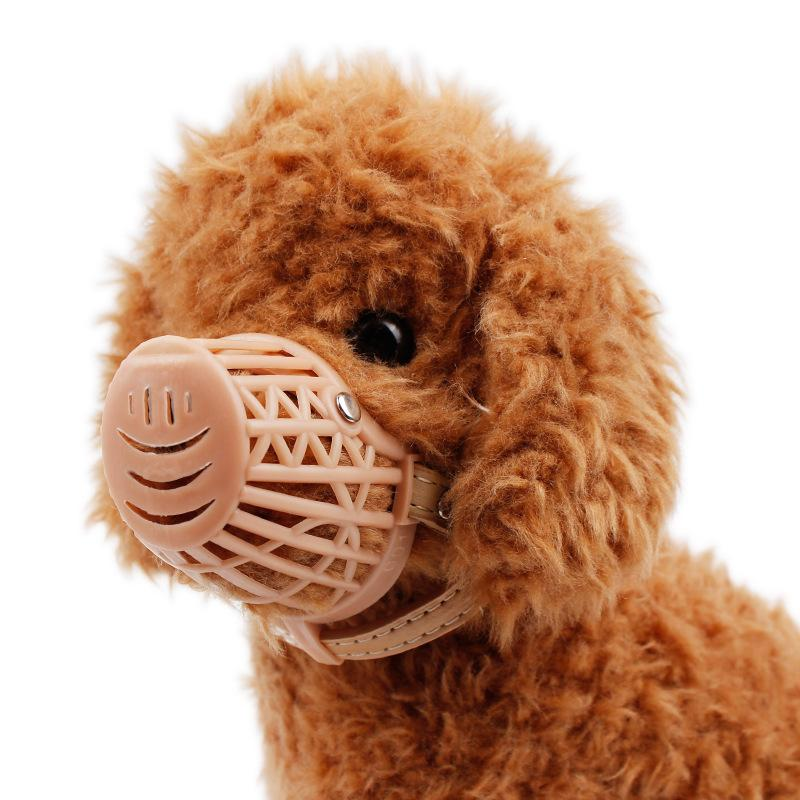 PET Dog Muzzle Mask Plastic Brown Strong Dog Products Prevent Bite Dog Mouth Mask Anti-biting Adjusting Straps Mask