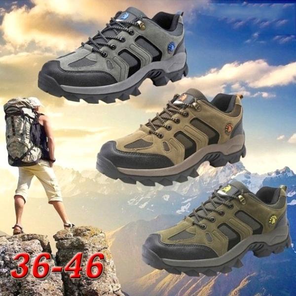 2019 Men Women Mesh Breathable Hiking Shoes Outdoor Sneaker Fashion Trekking Water Shoes Winter Waterproof Anti Skid Wear Proof Plus Size 36 46 From