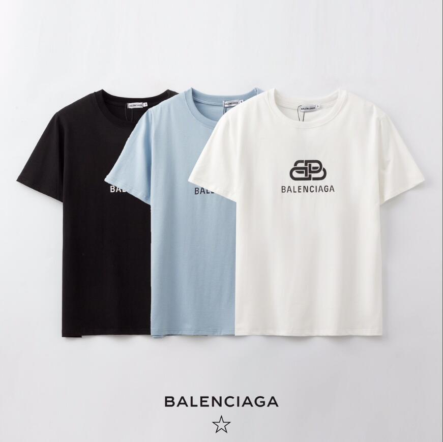 Explosión de la manera marca con camiseta de la moda de las nuevas mujeres Cartas de manga corta camiseta ocasional de los hombres de Nueva Perfil de # 164