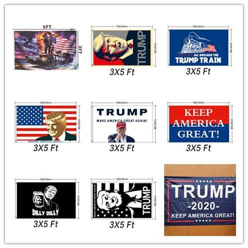 Trump 2020 President Donald trump Make America Great 3x5 Ft Flag Hot
