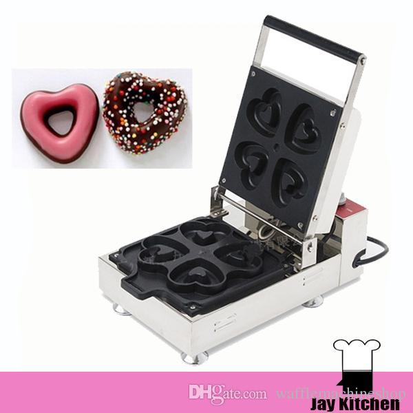 Ticari Isı Şeklinde Donut Makinesi Mini Çörek Makinesi Makinesi Çörek Yapma Makineleri Elektrikli Ev Hdoughnut Yapma Makinesi