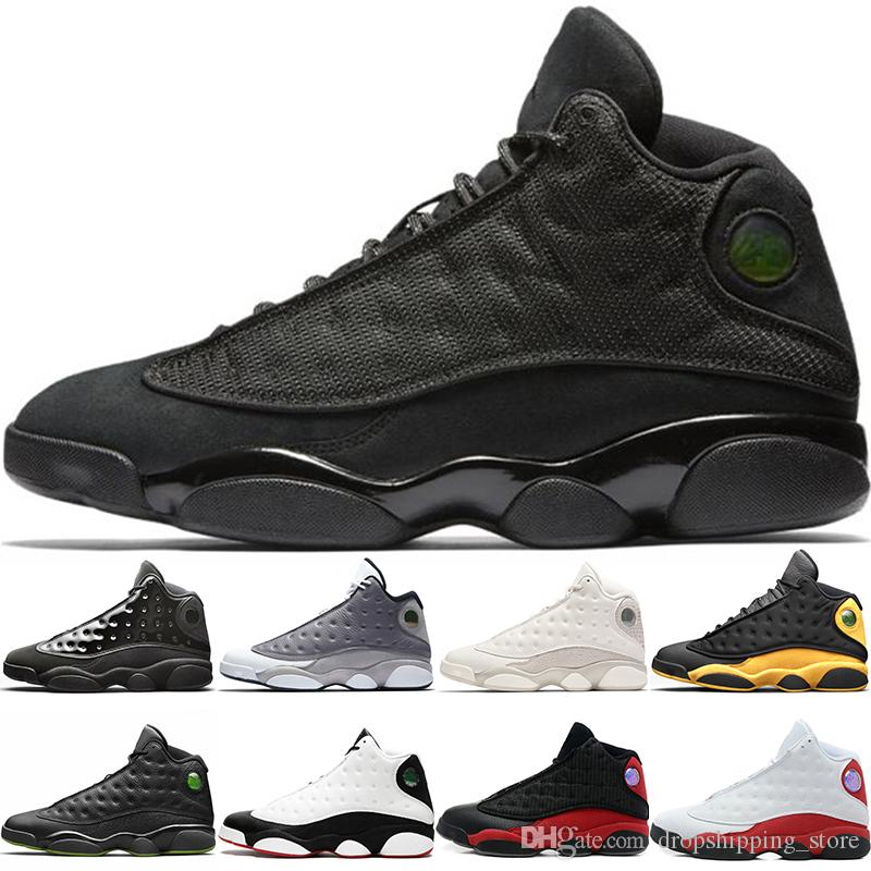 2019 Cap And Gown 13s Basketball Shoes 13 Men Atmosphere Grey He Got Game Black Cat Bred Cheap Top Trainer Sport Sneakers