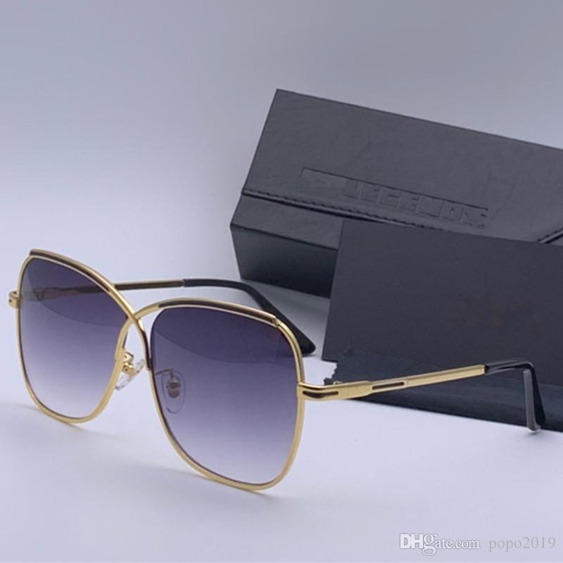 جديد أزياء الرجال شعبية المصمم الألماني نظارات شمس 224 S المعادن الرجعية إطار النظارات الشمسية طليعة الرواد أسلوب تصميم الأزياء بسيطة مع حالة
