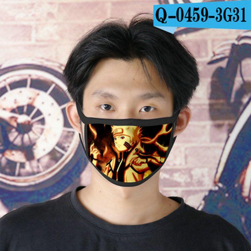 rin naruto cubrebocas designer tapabocas reusable face mask for man cartoon face mask 11 dressing2020 xSIza