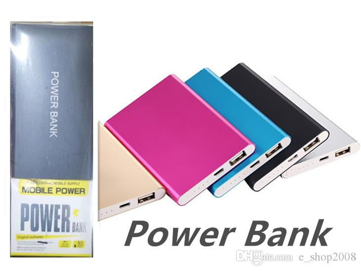 Ultra Slim Portable Power Bank Batteries 4000mah Charger Power Bank For All Phones Tablet PC External Cattery With Retail Packaging