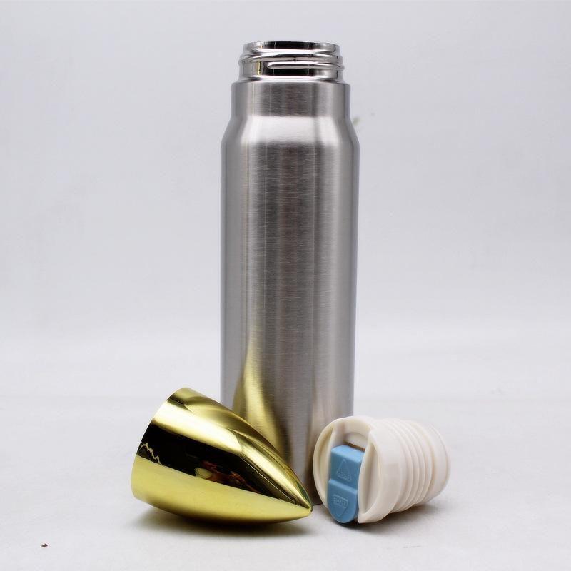 17 once di proiettile tumbler 500ml sport in acciaio inossidabile Bottiglia thermos bottiglia di acqua di vuoto della pallottola isolato borraccia Flask all'aperto acqua Cup