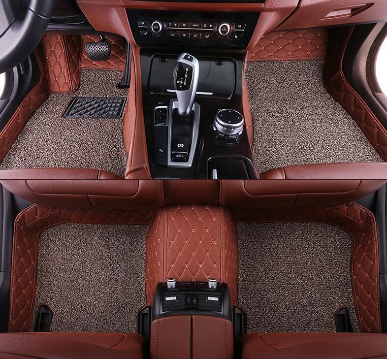 custom car floor mats for Mercedes Benz S Class S280 S300 S320 S400 S500 S550 2014-2019 4 Seats floor mats for cars DoubleLayer