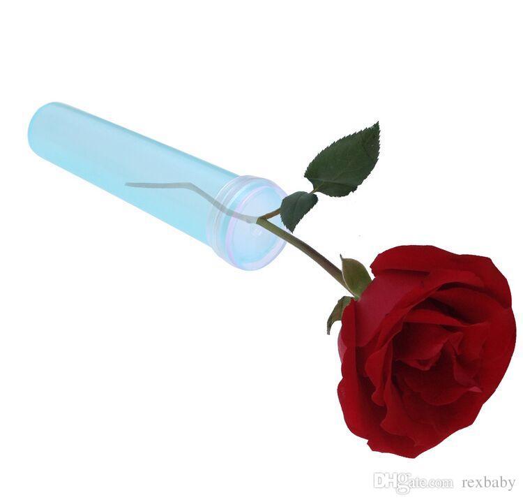 Plastik Su Tüpü Kauçuk Kapaklı Taze Çiçekler Düğün Etkinlik Sanatları El Sanatları