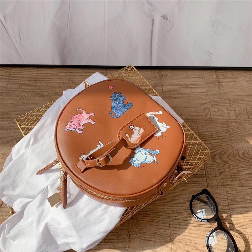 Designer Umhängetasche Frauen Luxus-Handtasche Strukturierter Runde Taschen Mode // CFY2003025
