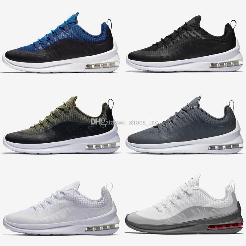 Eixo New All Black White Ornage Almofada Sports Running Shoes para Mulheres Dos Homens Formadores Zapatillas Designer Chaussure Sneakers Tamanho 40-45