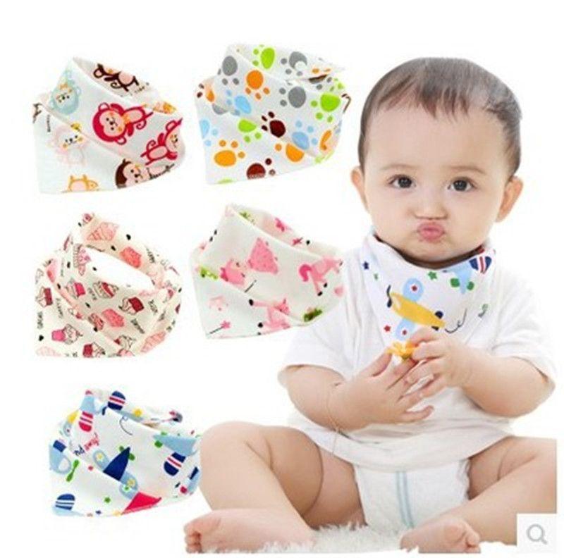 Bebê INS Bibs Dos Desenhos Animados Impresso Triangle Burp Pano de Saliva Criança Infantil Bandana Cachecol Crianças Botão Bibs de Enfermagem Frete grátis