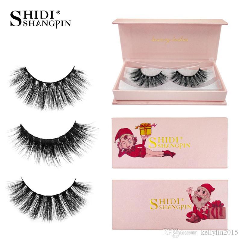 3D Mink Eyelashes Christmas Makeup False Eyelashes Winged Thick Nature Long Extension Fake Eye Lashes Full Strip Lashes 1 pair
