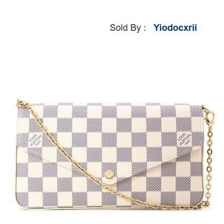 yiodocxrii IEOY White Bag N63106, Out Stock White Totes Handbags Shoulder Bags Backpacks Wallets Purse