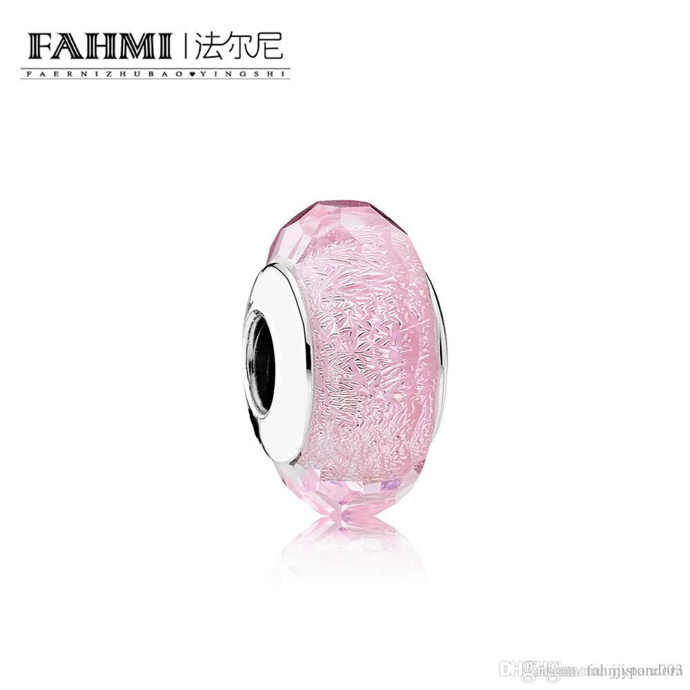 FAHMI 100% Argent 925 1: 1 verre d'origine Perles 791650 Tempérament authentique Mode Rétro Glamour Bijoux de mariage des femmes