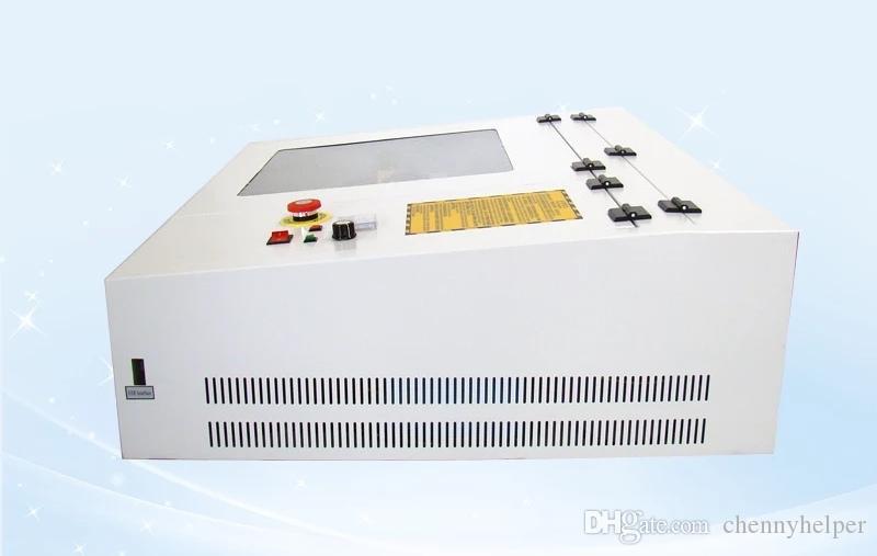 440 4040 50 واط آلة القطع بالليزر 400 * 400 ملليمتر آلة قطع الليزر ل بطاقة الزفاف المطاط ختم آلة الحفر