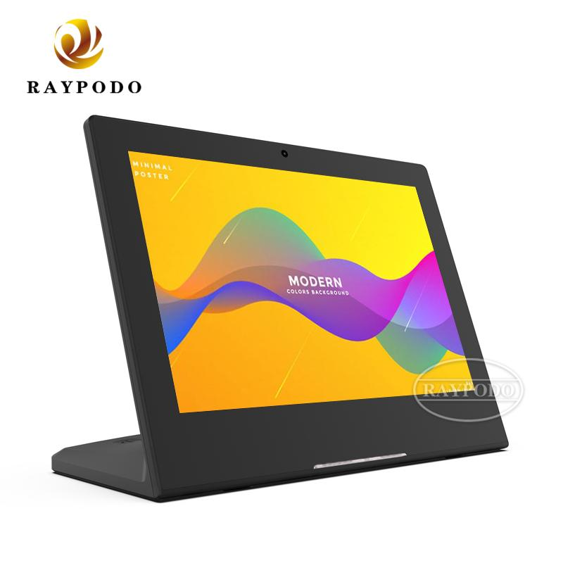 Raypodo New 10.1 inch Android tablet PC black and white color with POE NFC function option for reception using