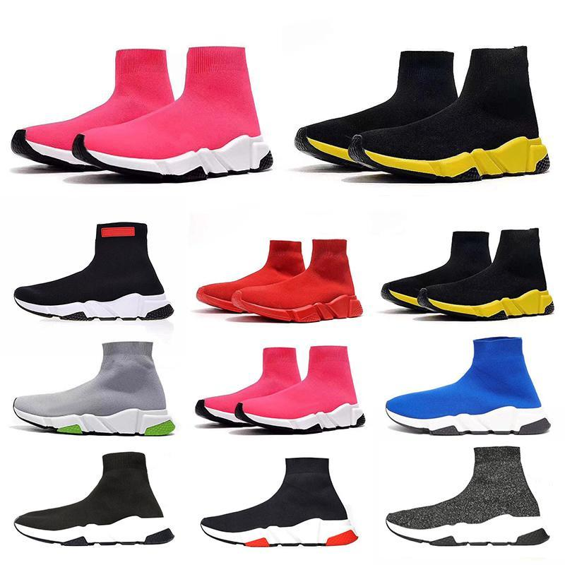 2020 Mode Chaussettes Chaussures vitesse formateur Casual Chaussures Sneakers course coureurs pour hommes femmes sport Chaussures Taille EUR 36-45
