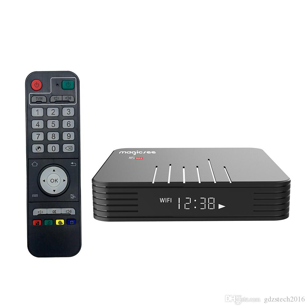 N5 max Android 9.0 TV BOX Amlogic S905X2 Quad-core 4GB/32GB 4K H.265 2.4G/5GWIFI&Bluetooth smart media player ms