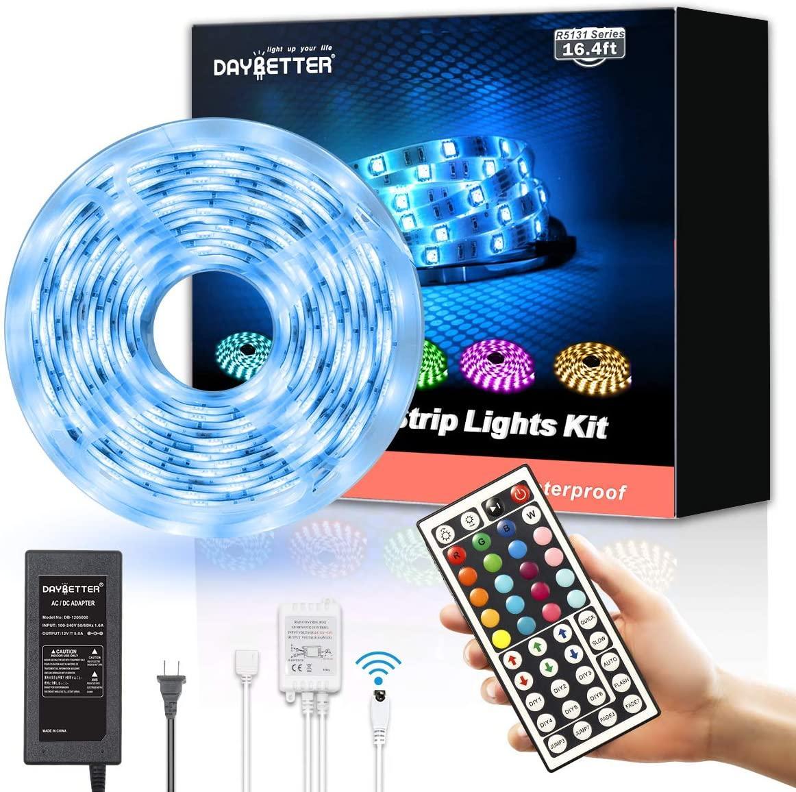 Dekorasyon LED Şerit Işıkları RGB 16.4ft / 5 M SMD 5050 DC12V Esnek Les Şeritler Işıklar 50LED / Metre 16 Sonfferent Statik Renkler