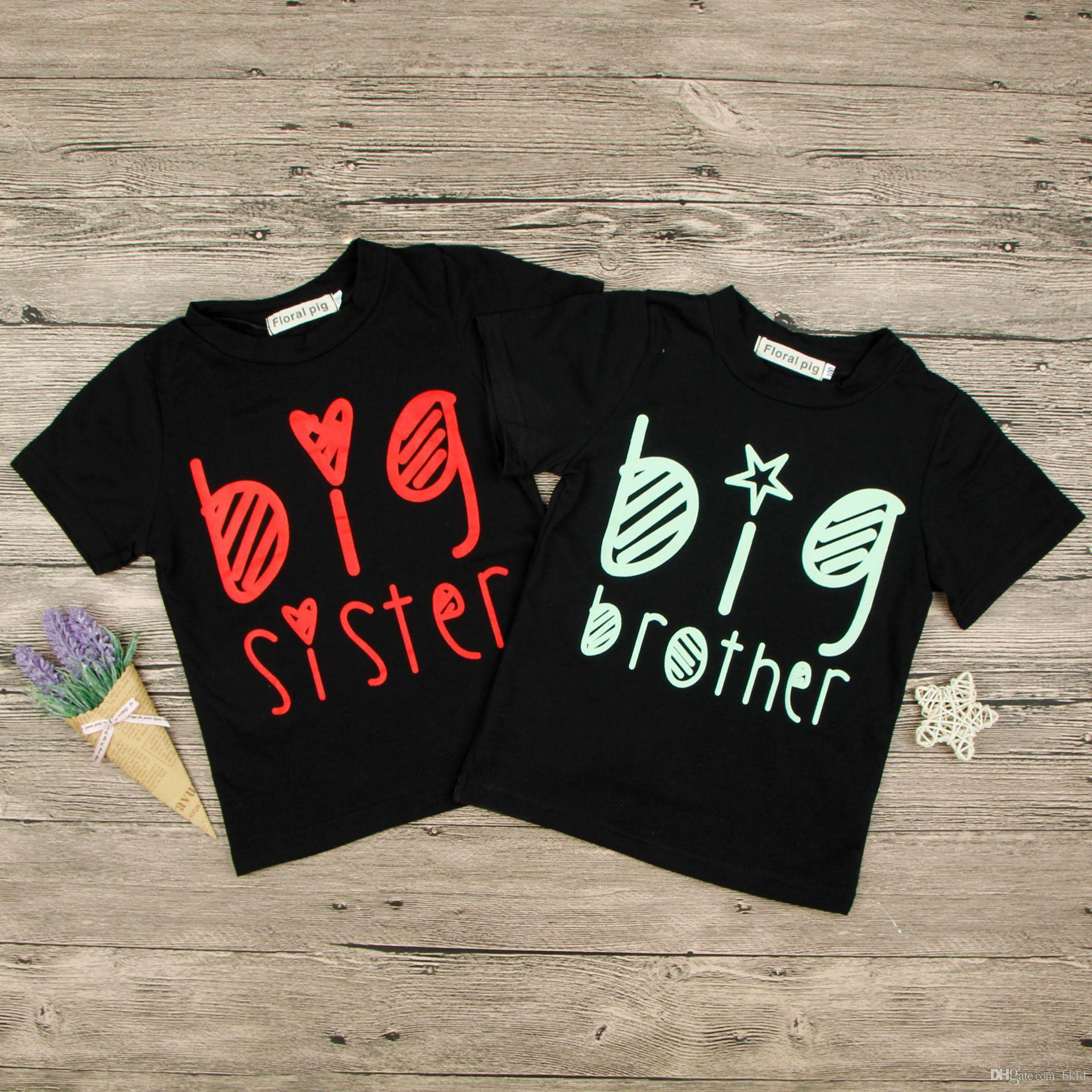 Promoted to big sister Children Kids Girls Short Sleeve Tee Girls T-shirt Tops