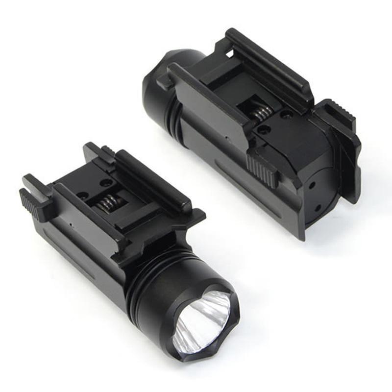 전술 Ncstar 소형 LED 피스톨 라이트 200 루멘 사냥 손전등 20mm 퀵 릴리즈 마운트베이스